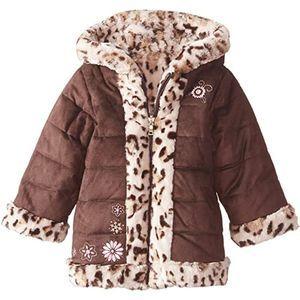 Pistachio Girls' Reversible Suede Faux Fur Coat 6